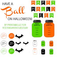 Date Halloween 2014 by Halloween Mason Jar Printables Yesterday On Tuesday