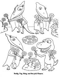 Dinosaur Train Coloring Pages More