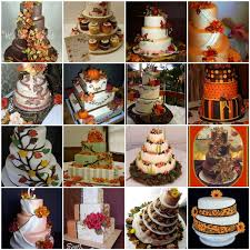 Fall Autumn Wedding Cake Ideas