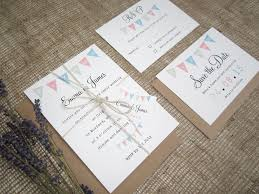 Village Fete Bunting Wedding Stationery Suite
