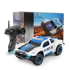 100 Micro Rc Truck Fast 4WD RC Racing Buggy Car 24G RTR Stunt Drifting