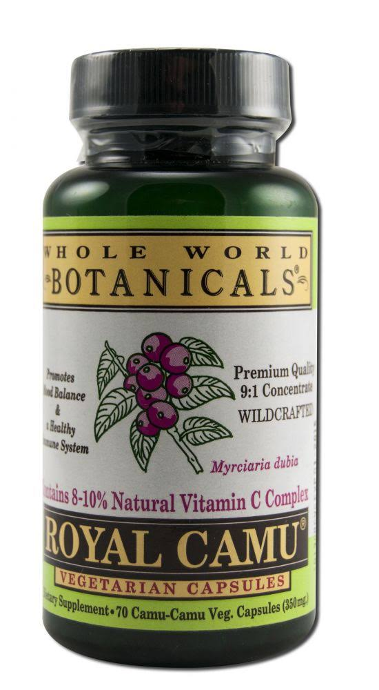 Whole World Botanicals Royal Camu Dietary Supplement - 70 Capsules