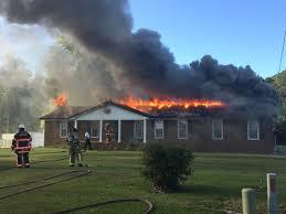 Live Oak Pumpkin Patch Fire by Firefighters On Scene Of West Greenville House Fire