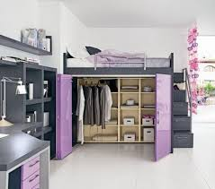 Contemporary Loft Bed With Closet Underneath Loft Bed With