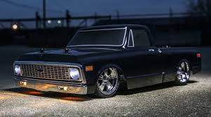 100 C10 Chevy Truck 110 1972 Pickup V100 S 4WD Brushed RTR Black
