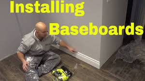 Home Depot Bostitch Floor Nailer by Installing Baseboards With A Finish Nailer Diy Tutorial Youtube