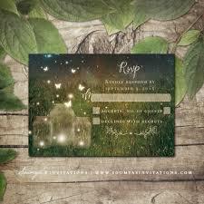 Enchanted Forest Themed Wedding Invitations Rustic Garden Lights Invitation Mason Jar