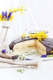 bananen creme torte