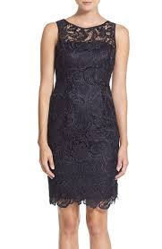 adrianna papell illusion bodice lace sheath dress nordstrom