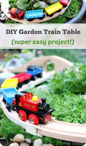 Making Wooden Toy Trains by Diy Outdoor Train Table A Wooden Train Garden Railway Train
