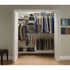 Three Hanging Rods Five Boxes Shelves Floated Closet System Home