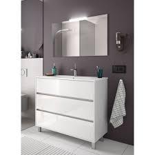 badmöbel set badezimmer möbel schrank 100 cm mit waschtisch weiß weiss mit spiegel