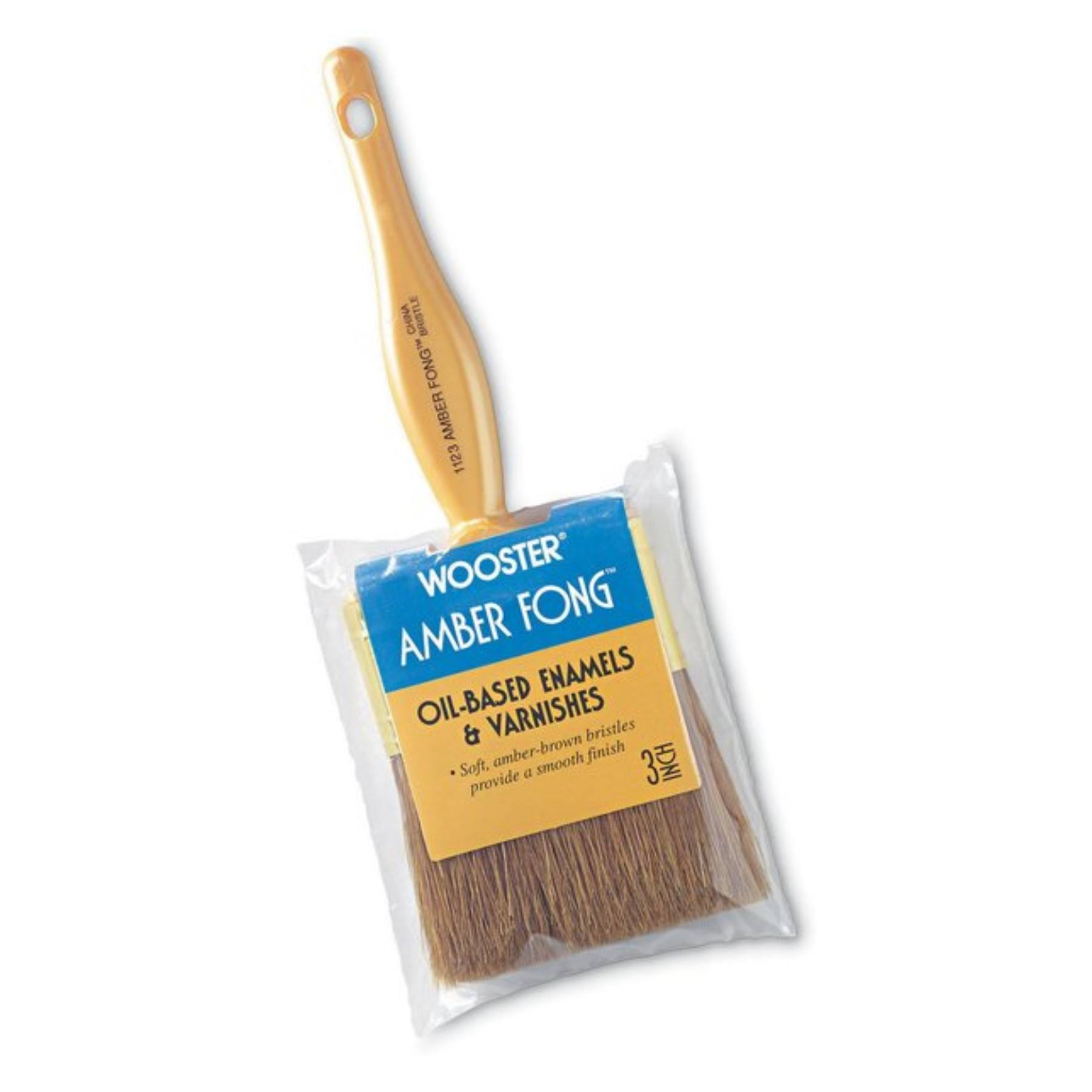 Wooster Brush Amber Fong Oil-Based Paint Brush - 1""