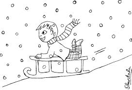 Coloriage Page Aperçu Du Dessin Animé Garçon Ski Sports Dhiver