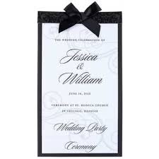 Black White Wedding Programs