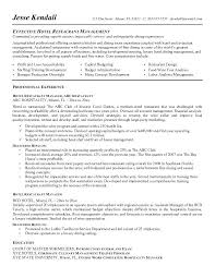Floor Manager Resume Objective For Restaurant Throughout Retail
