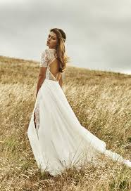 Bohemian Wedding Dress Lace Rustic