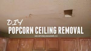 Popcorn Ceilings Asbestos Testing by Diy Popcorn Ceiling Removal U2014 Seven Days A Week