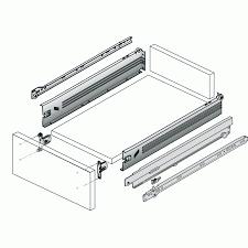 coulisses a galets de tiroirs kit tiroir multitech hauteur 86 mm coulisse à galets hettich