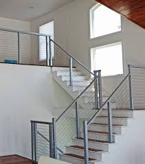 Cable Stair Railing - Square Stainless Steel Posts And Handrail ... Stainless Steel Cable Railing Systems Types Stairs And Decks With Wire Cable Railings Railing Is A Deco Steel Guardrail Deck Settings And Stalling Post Fascia Mount Terminal For Balconies Decorations Diy Indoor In Mill Valley California Keuka Stair Ideas Best 25 Ideas On Pinterest Stair Alinum Direct Square Stainless Posts Handrail 65 Best Stairways Images Staircase