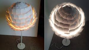 DecorationsAdorable Rustic Style Table Lamp Shade With White Single Legs Round Paper
