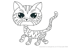 Cute Kitten Coloring Sheets Cat Pages Kitty Cartoon Cats Classy Kids