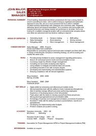Sales Manager CV Example 6