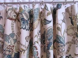 Jacobean Floral Design Curtains by Blue Window Curtains Teal Drapes Blue Floral Window