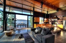 Modern Lodge Decor Modern Cabin Interior Design Modern Log Cabin