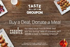 groupon cuisine groupon aims to donate half a million meals launches taste of