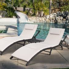 Devoko Patio Chaise Lounge Sets Outdoor Rattan Adjustable Back 3 Pieces  Cushioned Patio Folding Chaise Lounge With Folding Table (Beige Cushion) Best Choice Products Outdoor Chaise Lounge Chair W Cushion Pool Patio Fniture Beige Improvement Frame Alinum Exp Winsome Wicker Chairs Commercial Buy Lounges Online At Overstock Our Cloud Mountain Adjustable Recliner Folding Sun Loungers New 2 Shop Garden Tasures Pelham Bay Brown Steel Stackable Costway Set Of Sling Back Walmartcom Double Es Cavallet Gandia Blasco Walmart Fresh 20 Awesome White Likable Plastic Enchanting