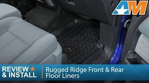 Weathertech Floor Mats 2009 F150 by 2009 2014 F 150 Rugged Ridge Front U0026 Rear Floor Liners Black