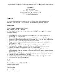 Resume Objective Statement Examples General Samples Sample Manager Auto