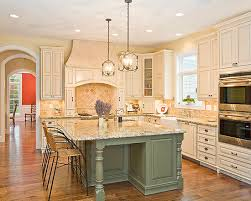 Bright Wood Kitchen With Island Home Kitchens Interior Regard To Green Islands Inspirations 6