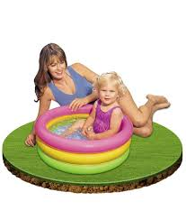 Inflatable Bathtub For Adults Online India by Intex Inflatable 2 Feet Baby Swimming Pool Buy Intex Inflatable