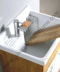 Slop Sink Home Depot by Minimalist Kitchen With White Wooden Utility Sink Cabinet Single