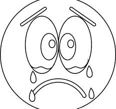 Crying Coloring Pages Sad Cry Emoji Printable Unicorn Book