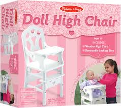 100 Wooden High Chair With Removable Tray Melissa Doug Doll QVCcom