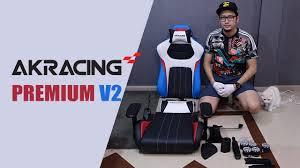 Akracing Gaming Chair Blackorange by ร ว ว Akracing Premium Style Gaming Chair V2 Youtube