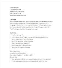 Tutor Resume Template 13 Free Samples Examples Format Download Rh Net For Nursing Job