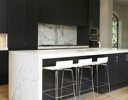 Black Kitchen Cabinets with White Countertops Modern kitchen