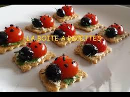 canapé apéritif facile coccinelles apéritives aperitif dinatoire la boite a recettes