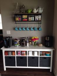 Coffee Bar Ideas For Office Startling Station Decorations Small Spaces Wooden And Tea Home Interior 12