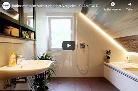 fotodecke im badezimmer mit indirekter beleuchtung plameco