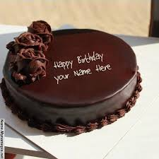 Design your own names of Chocolate Cake for Birthday