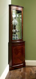 storage cabinets ideas lighted corner curio cabinet black a