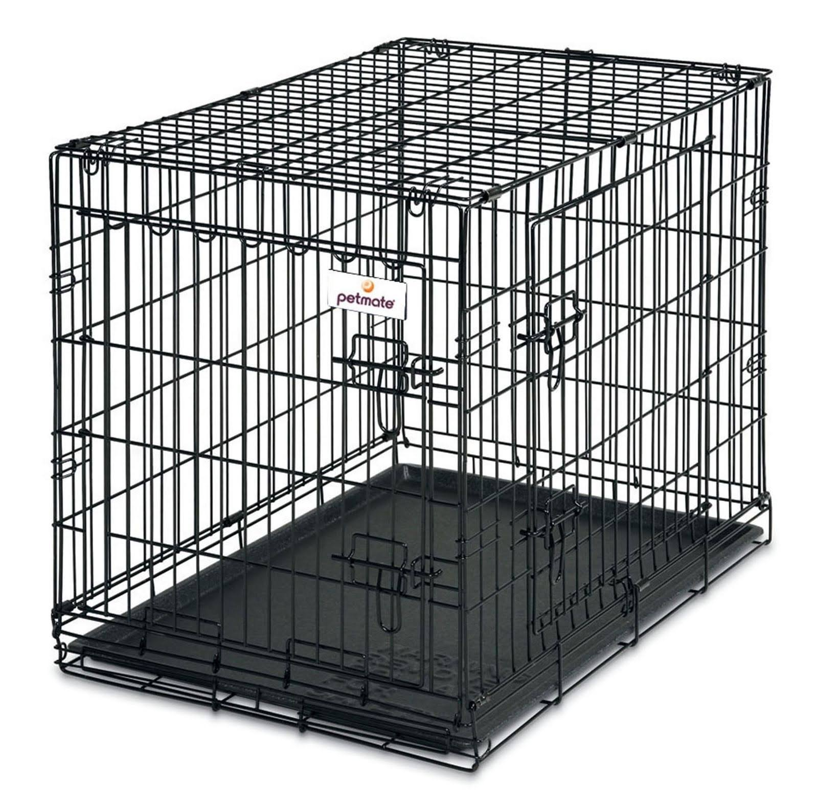 Petmate 2 Door Training Retreat Wire Crate Pet Kennel - Black, 76cm