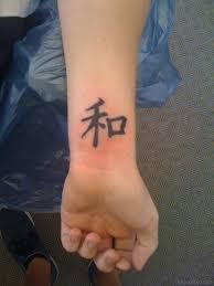 Cool Chinese Symbol Tattoo On Wrist
