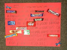 Happy Birthday Homemade Candy Bar Poster Card Crafts Ideas