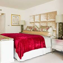 Bedroom With Red Accents